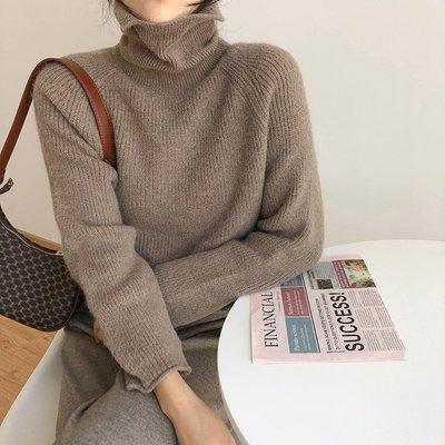 YOHO 現貨高領毛衣 (MZ1225-5) 秋冬加厚保暖微絨感寬鬆高領毛衣 針織衫