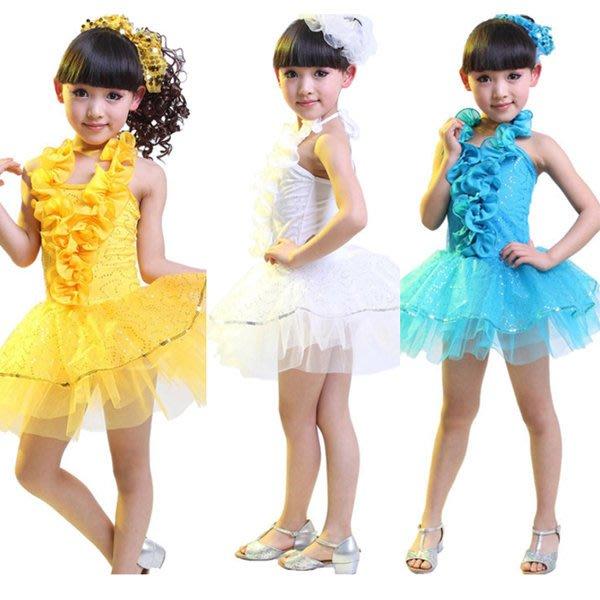 5Cgo【鴿樓】含稅會員有優惠 25298836809 小孩表演服舞台服裝演出服裝現代拉丁舞舞蹈裙兒童舞衣