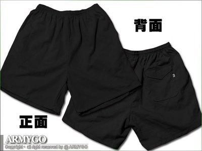 【ARMYGO】國軍黑色短褲 (三口袋)