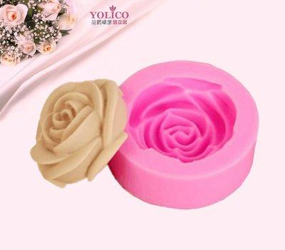 【悠立固】Y516立體大玫瑰花造型 巧克力蛋糕裝飾矽膠模具手工皂模 壓模翻糖液態矽膠模具 精美蛋糕製作 食品級 台南市