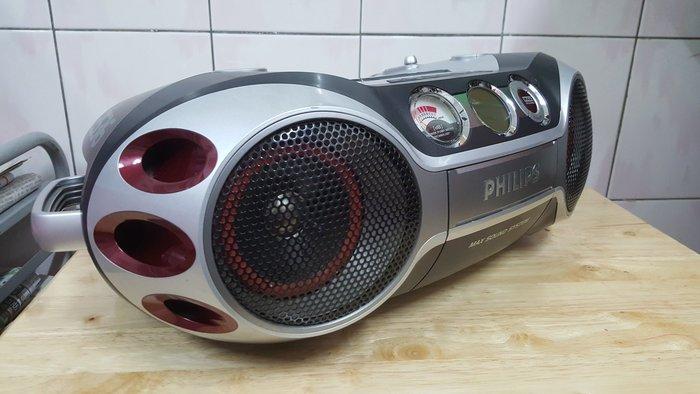問題機 PHILIPS az2536 手提音響 超酷外型 電台 mp3 vcd 數位甩錶 可插 麥克風