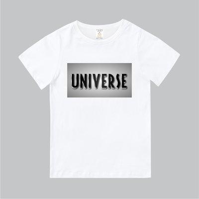 T365 MIT 親子裝 T恤 童裝 情侶裝 T-shirt 標語 話題 口號 美式風格 slogan UNIVERSE