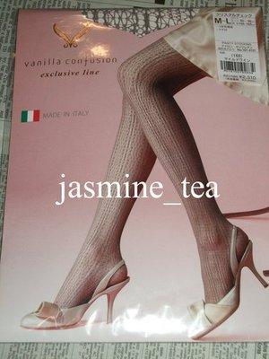 4c-18d/NEW<日本vanilla confusion義大利製 灰芋色水晶格編織網褲襪>M~L/¥2310