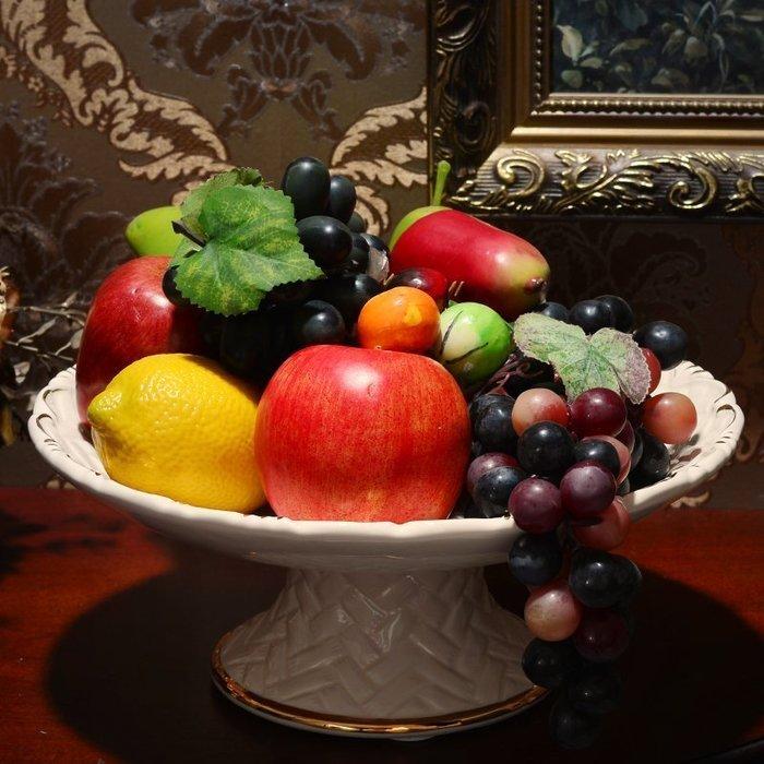 【優上精品】水果盤 高腳蛋糕盤干果盤歐式現代客廳茶幾 陶瓷果盤婚慶KTV(Z-P3230)