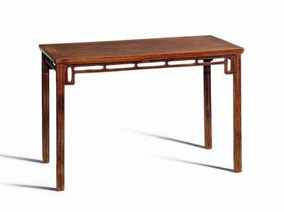 明十七世紀 黃花梨條桌