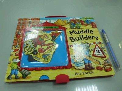 6980銤:A6-1ab☆2011年『Muddle Builders 兒童磁鐵玩具書』《Campbell Books》