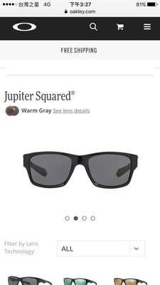 Oakley Jupiter Squared®太陽眼鏡 運動 時尚 偏光 正品OO9135-01