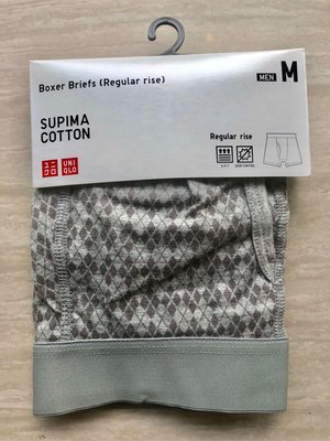全新【uniqlo UNIQLO】boxer briefs 男裝 灰色 內褲 M碼 regular rise, supima cotton 原 $79