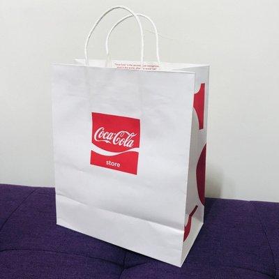 Coke Cola 可口 可樂 原廠 專櫃 百貨 紙袋 禮品袋 禮盒袋 購物袋 手提袋 包裝袋 送禮袋 包裝袋