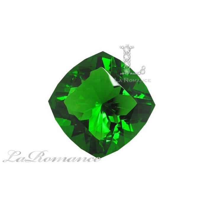 【芮洛蔓 La Romance】璀璨方型水晶鑽 – 綠色 / 主正財 / 幸運鎮財 / 繁榮昌盛