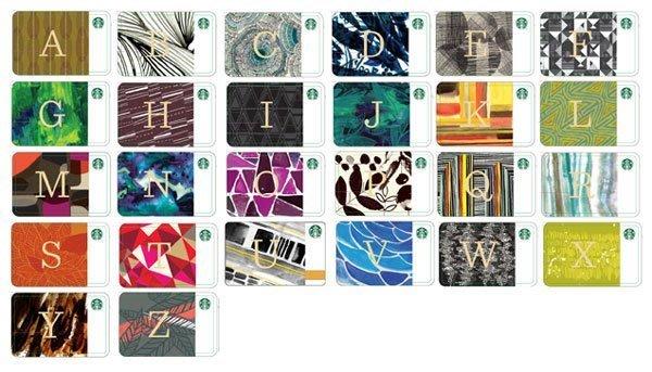 星巴克限量紀念套卡 花押字母隨行套卡A至Z大全套 現貨 原價699