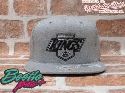 BEETLE PLUS MITCHELL&NESS NHL  洛杉磯國王 KINGS LOGO 毛巾布 全灰 SNAPBACK 後扣棒球帽