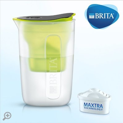 【清淨淨水店】德國BRITA fill&enjoy FUN/ 酷樂濾水壺 /酷樂壺1.5L(萊姆綠)1壺1芯價780元。