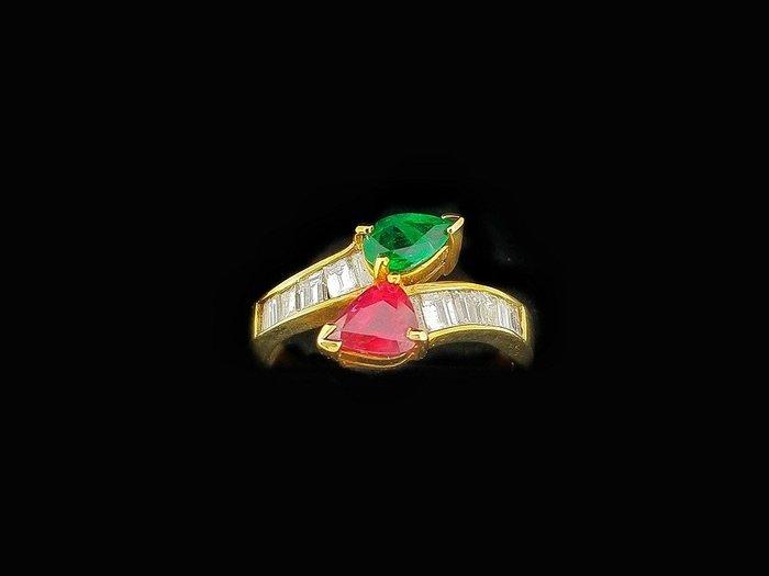 天然紅綠寶石 戒指
