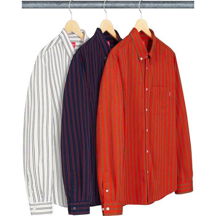 【美國鞋校】預購  Supreme SS19 Stripe Twill Shirt 襯衫 三色