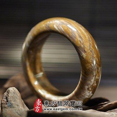 木化石手鐲、樹化玉手鐲。(深咖啡色,圓鐲18,WO012)。客製化訂做各種木化石手鐲、樹化玉手鐲