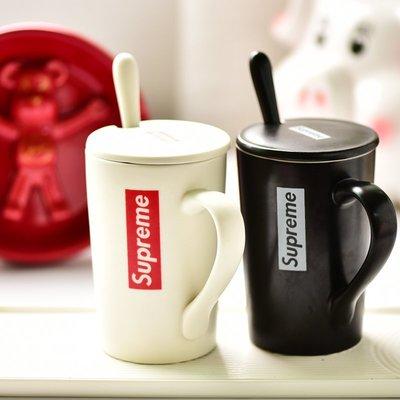 ☜男神閣☞Supreme潮牌陶瓷杯馬克杯水杯情侶杯泡奶杯