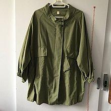 包平郵 全新 韓國 軍綠色 長外套 薄外套 恤衫料