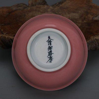 ㊣姥姥的寶藏㊣ 文革廠貨紫色釉飯碗湯碗大清御膳房款手工古瓷器古玩古董收藏擺件
