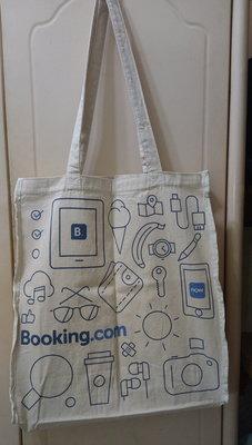 Booking.com 帆布袋 購物袋 肩背包