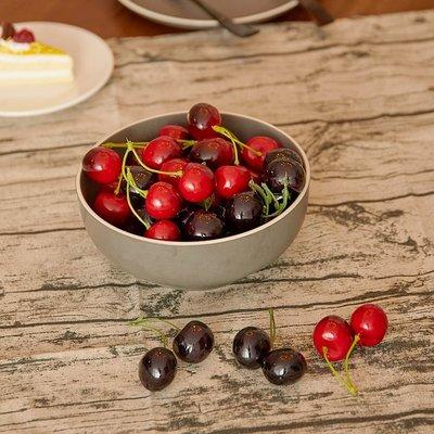 小花精品店-仿真水果雙頭櫻桃模型車厘子餐廳攝影擺件拍攝道具櫥柜裝飾品
