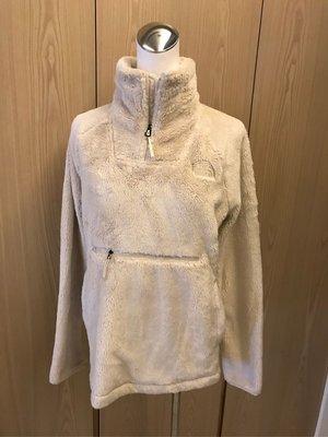全新 現貨 The North Face 北臉 暖色系 米白色 刷毛 長袖 頭套 外套 無吊牌 M號 女裝 小叮噹口袋