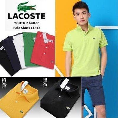 香港代購LACOSTE鱷魚 LACOSTE 法國鱷魚男士新款經典LOGO短袖polo衫 男女情侶半袖翻領t恤衫