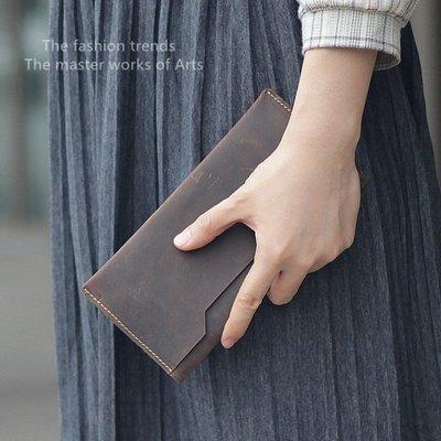 NYCT 韓國獨家限定高品質GD歐美熱賣頂級進口百搭時尚瘋馬皮錢包卡包男超薄真皮女式多卡位證件手機套錢包男女長款