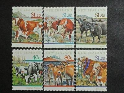 【亂世奇蹟】1997年紐西蘭 牛群郵票6全__254