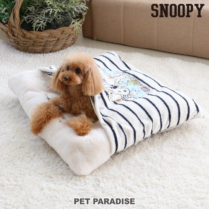貝果貝果 日本 pet paradise  代理 snoopy  家族SPA書是睡袋 / 睡墊 兩用款 [H872]