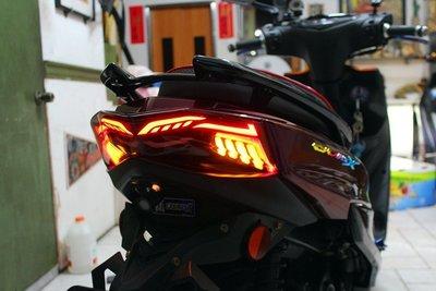 【翰翰二輪】AJ燈係 四代戰 RK5 序列式方向燈 導光燈條 大面積LED 整合尾燈組 四代新勁戰 LEVEL10