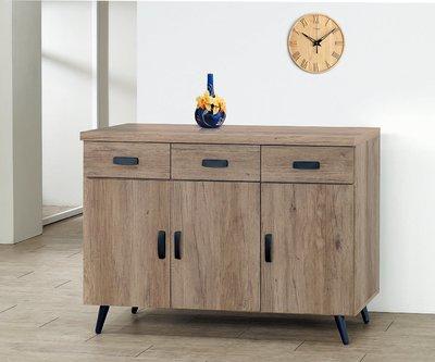 【南洋風休閒傢俱】精選餐櫃系列-碗盤櫃組 餐櫃 櫥櫃 收納櫃-古橡木4尺碗盤餐櫃CY357-17