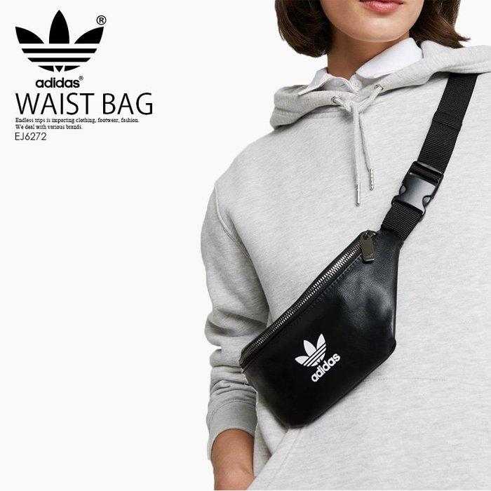 ADIDAS ORIGINALS WAISTBAG 黑  合成皮革 側背 斜背 腰包 小包 EJ6272