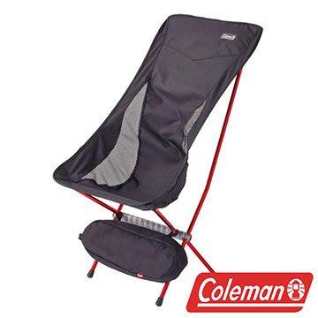 【山野賣客】美國Coleman CM-26741 LEAF高背椅 超輕鋁合金折疊月亮椅  摺疊椅 休閒椅 折合椅 黑