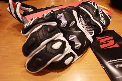 德芯騎士部品屋 法國FIVE  RACING系列手套 RFX3 黑白色 防護手套 公司貨