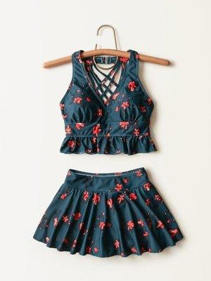 日系泳裝/溫泉性感韓國風保守遮肚顯瘦分體可愛三件套游泳裝