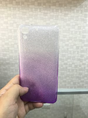 HTC Desire 728 漸層 閃亮 水鑽 紫色 優質 軟殼 兩用 雙用 透明 台中市