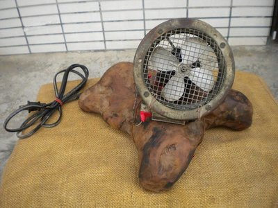 **黑熊古玩藝品**外國製古董超小型電風扇