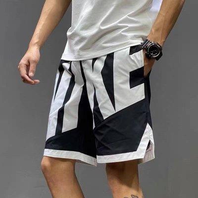 【風口潮流】NIKE 復古大LOGO籃球運動短褲 黑色*M-2XL。H10601