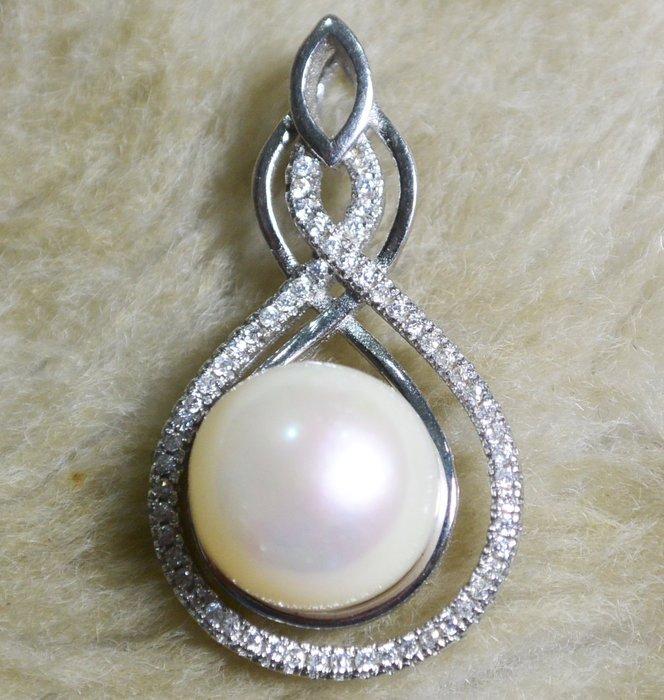 [天地居] 天然珍珠 925銀墜 003