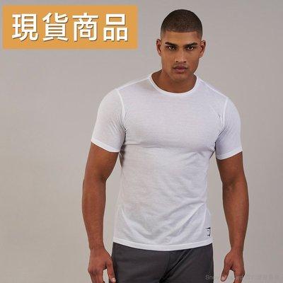 (現貨 M)英國 GYMSHARK AERATE T-SHIRT 易維特系列 透氣棉質 短袖T恤- 白色(雪豹健身)