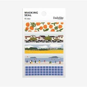 ❅PAVEE❅ 韓國Dailylike~ Masking Seal 戀戀手作 長條和紙膠帶(01-10)