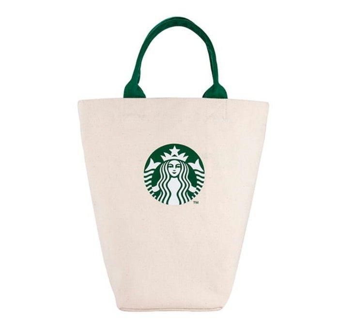 天使熊雜貨小舖~星巴克STARBUCKS 米經典女神提袋  全新現貨