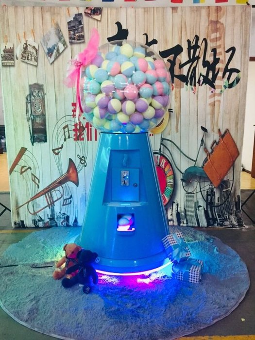 【活動提案請找我】抖音 直播吸金 道具出租 新款 水晶球扭蛋機 三色 白粉藍 全台唯一巨型 活動 轉蛋機 日租週租短租