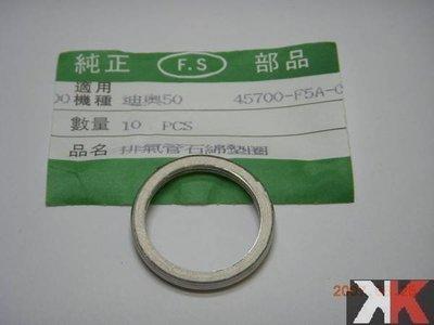 K2零件王.原廠型.排氣管.墊片.迪奧/迪迪/恰恰/翔鶴/ZAP/JOG/PRO/勁風/