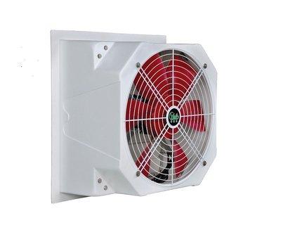 [多元化風扇風鼓]解決室內悶熱 負壓扇 排風扇28吋 77*77CM 單相220V 防水型+百葉窗~( 強制把熱氣抽出去