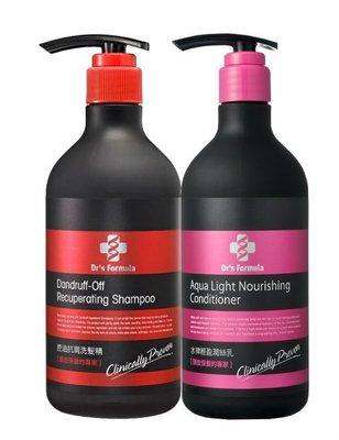 台塑生醫 Dr's Formula 控油抗屑洗髮精580ml + 水律輕盈潤絲乳530ml 含運
