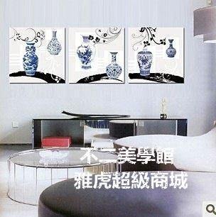 【格倫雅】無框聯畫 客廳書房掛畫 中式古董青花瓷 墻畫壁畫裝飾畫57676[g-l-y39