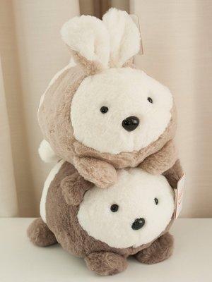 【便利公仔】含運 圓滾滾兔幾公仔小兔子毛絨玩具絨絨兔毛毛兔趴趴兔小熊可愛女禮物