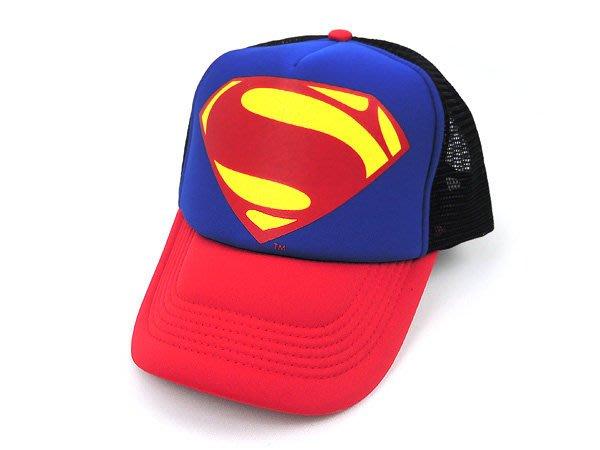 ☆二鹿帽飾☆【超人】男女皆可‧潮流配色『丹寧風』國旗網帽.棒球帽/街舞風格-藍紅色